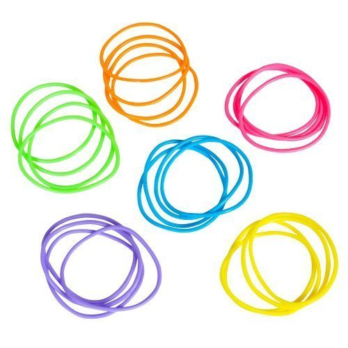 Neon Jelly Bracelets (288 pcs) [Toy]