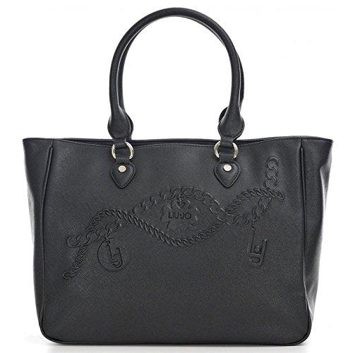 LIU JO CORALLO SHOPPING BAG N66226E0140-22222 Black