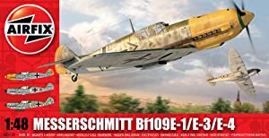Airfix A05120 1:48 Scale Messerschmitt Bf109E Military Aircraft Classic Kit Series 5 by Hornby Hobbies