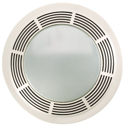 NuTone 8664RP Designer Fan and Light with Round White Grille and Glass Lens, 100 CFM 3.5 Sones (100 Cfm Hood compare prices)