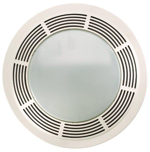 Nutone 8664Rp 100 Cfm 3.5 Sones Designer Fan/Light, Round White Grille With Glass Lens