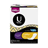 U by Kotex Lightdays Liners, Extra Coverage, Unscented, 112 Count