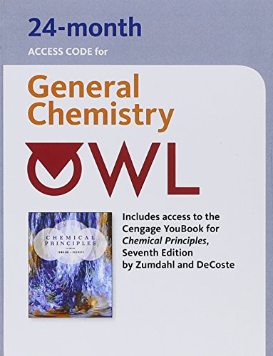 Owl 24-Months Printed Access Card for Zumdahl/Decoste's Chemical Principles