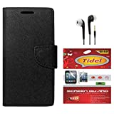 Tidel Premium Table Talk Fancy Diary Wallet Flip Cover Case For CoolPad Dazen1 (Black) With Tidel Screen Guard...