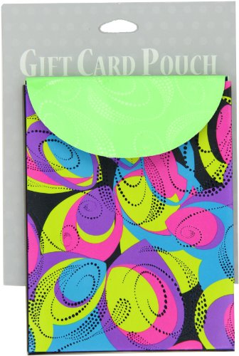 The Gift Wrap Company Colorful Craze Sliding Gift Card Holder, 12-Count Pack