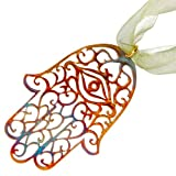 Hamsa Ornament with Ribbon