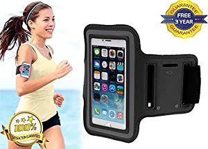 iPhone 6/6S Premium Armband Case Cover HoldeR Suitable for Sports Running, Jogging, Gym With Headphone Slot Holder, Key Slot Holder And Adjustable Velcro Strap-3 YEARS FREE GUARANTEE!