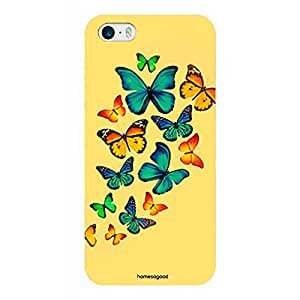 Homesogood Beautiful Butterfly With Yellow Multicolor Case For iPhone 5 / 5S (Back Cover)