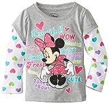 Disney Little Girls'Minnie Mouse Beautiful Long Sleeve Tee