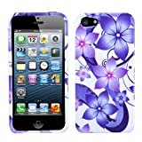 MYBAT IPHONE5HPCIM990NP Slim and Stylish Protective Case for iPhone 5 / iPhone 5S - 1 Pack - Retail Packaging - Purple Hibiscus Flower Romance