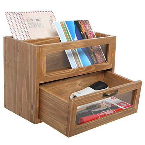 Mygift Organizer Drawer Desk Table Top Wood Gift Office