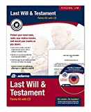 Adams Last Will and Testament Kit, Forms and Instructions, Includes CD (K307)
