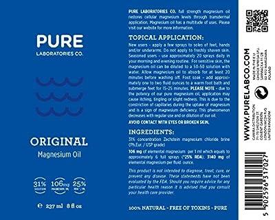 Transdermal Magnesium Oil Spray - Super Potent 31% Concentration