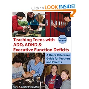 Download Teaching Teens With ADD, ADHD & Executive Function Deficits: A Quick Reference Guide for Teachers and Parents