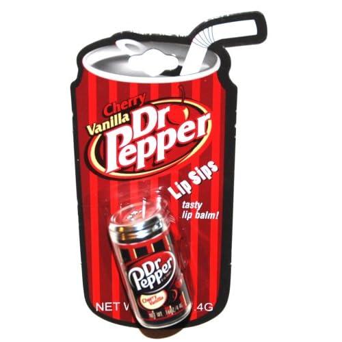 Amazon.com: Dr Pepper Soda Can Cherry Vanilla Scented Lip Balm