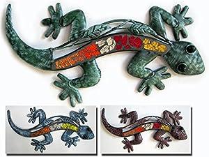 Metal Wall Art Hanging Gecko Sold Individually by Osiris Trading UK