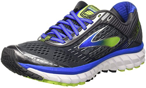Brooks Ghost 9, Scarpe da Corsa Uomo, Multicolore (Anthracite/Electric Brooks Blue), 44 EU