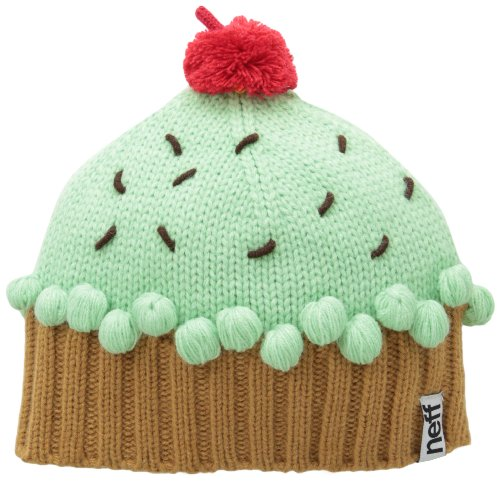 Neff Women's Cupcake Beanie Hat, Mint, One Size