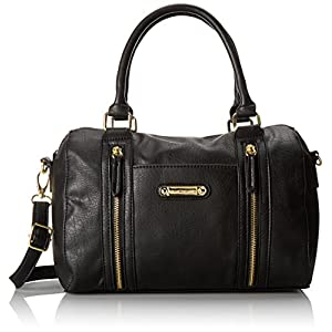 Franco Sarto Ivy Satchel,Black,One Size