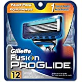 Gillette Fusion Proglide Manual Men's Razor Blade Refills 12-Count, 0.11-Pound- Packaging May Vary