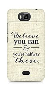 AMEZ believe you can and you are there halfway Back Cover For Huawei Honor Bee