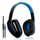 Wireless Headphone, TurnRaise Bluetooth 4.1 Stereo Headphones Headset Over-Ear, Foldable Design w/ Built-in Mic for Bluetooth-enabled Smart Devices - Ergonomic Design | Includes In-line Aux Cable