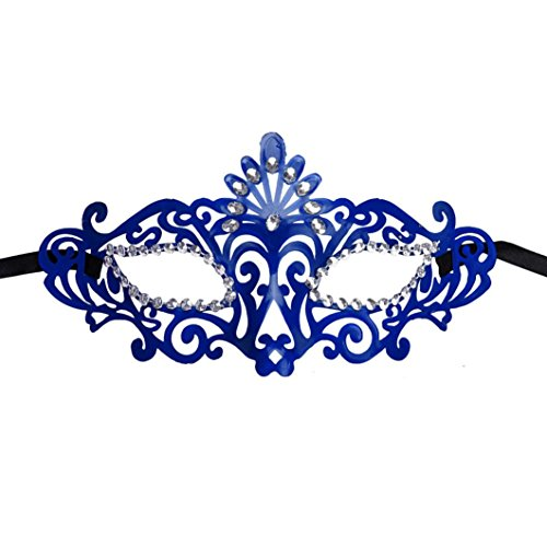 Bigban 1 PC Fashion Mysterious Venetian Hollow Masquerade Halloween Mask (Blue) (Lady Costume Mask)
