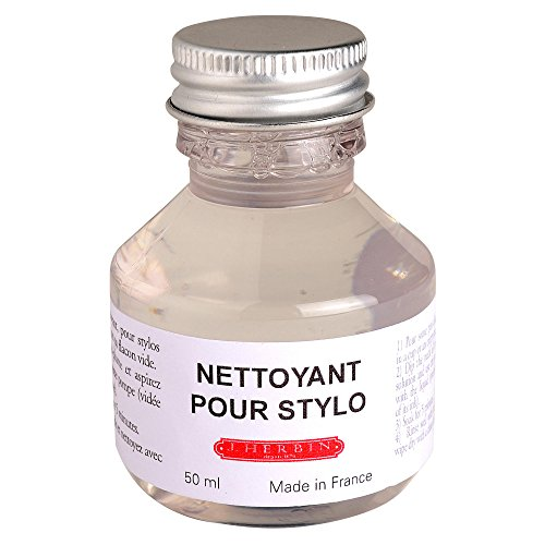 Herbin Recharge pour Stylo-plume liquide nettoyant non abrasif Flacon 50 ml