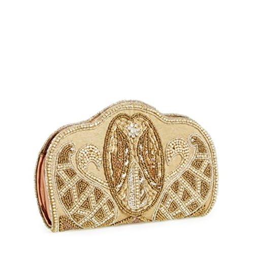 ナターシャクチュール(Nata.sha Couture) ビーズの「ペイズリー」クラッチ Beaded 'Paisley' Clutch{並行輸入品} [GBC]