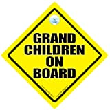 Grandchildren On Board, Grandchildren On Board Car Sign, Baby On Board Sign, Decal, Baby on Board, Grand Children On Board, Grand Parents, Grand Children On Board, Baby Car Sign, Bumper Sticker, Decal, Baby Car Signsby iwantthatsign.com