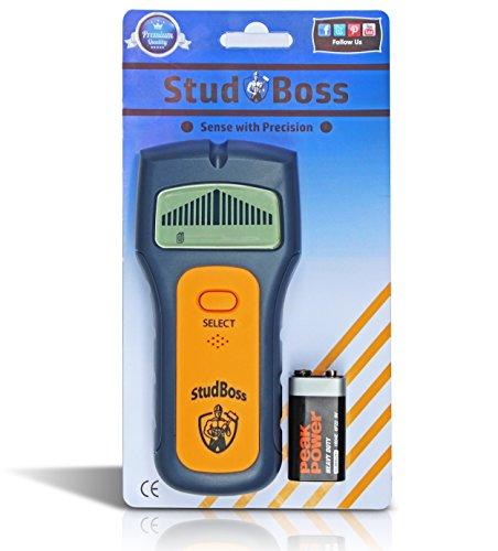 StudBoss Digital LED Stud Finder - Easy To Use - Bonus Video Instructional - 9 Volt Battery Included - Scanner for Wall Studs, Ac Wires and General Metals - DIY Essential Tool