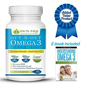 Pharmaceutical Grade Fish Oil Omega 3 Supplements Maximum Strength 1500mg
