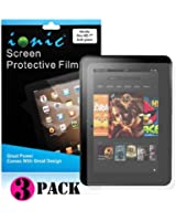 Ionic Screen Protector Film Matte (Anti-Glare) for Amazon Kindle Fire HD 8.9 Kindle Fire HD Tablet (3-pack)[Doesn't fit Kindle Fire HD 7 Inch][Lifetime Replacement Warranty]