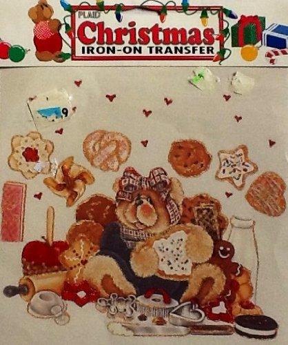 Plaid ~ Christmas ~ Iron-On Transfer #57426 ~ Cookie Christmas Teddy Bear front-811472