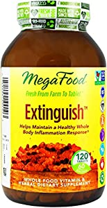 MegaFood Extinguish Inflammation Response Tablets, 120 Count (Premium Packaging)