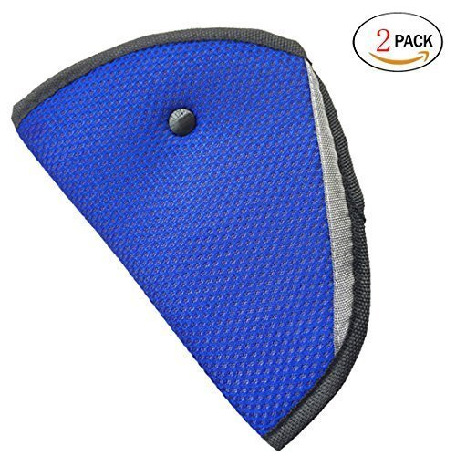 HSELL® Pack of 2 Child Seat Belt Adjuster, Car Safety Cover Strap Adjuster Pad Harness, Comfortable Protection for Adult Children Keep Belt Away From Neck and Face,Made of Air Mesh Fabric,Blue (Seat Belt Buckle Holder compare prices)