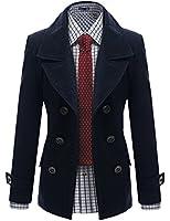 Doublju Mens Wool Double Jacket