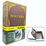 Raysun® Diversion Book Safe Hidden Metal Case Build-in with Key Lock (Holy Bible)
