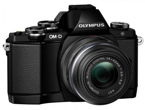 """Olympus E-M10 Appareil photo numérique hybride 16,1 Mpix - Écran Tactile Inclinable 3"""" - Kit Boîtier + Objectif 14-42mm - Noir"""