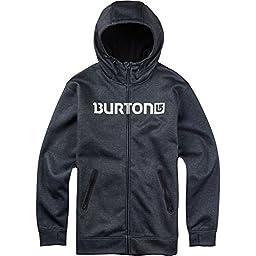 BURTON Men\'s Bonded Full-Zip Hoodie, X-Large, True Black Heather