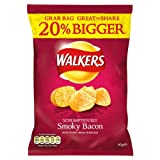 Walkers Smoky Bacon Flavour Crisps 60g (Pack of 32 x 60g)