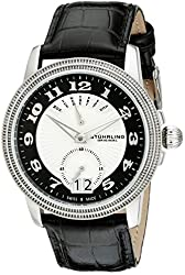 Stuhrling Original Men's 788.02 Symphony Analog Display Swiss Quartz Black Watch