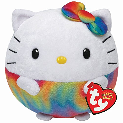 Ty-Beanie-Ballz-Hello-Kitty-Rainbow-Medium-Plush