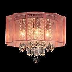 Ella Fashion® LED Modern Tiffany Art Deco Crystal Chandelier Lighting Pendant Flushmount Ceiling Light Fixtures Light Lamp for Living Room , Bedroom , Dining Room , Study Room , Foyer