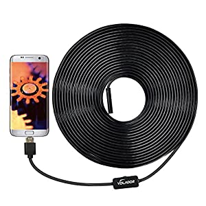 Volador 2 Million Pixels 720P USB Borescope Camera, 2 in1 HD Endoscope Inspection Camera for OTG Android Phones Computers Tablets, Waterproof Snake Camera with 10m 33ft Inspection Tube