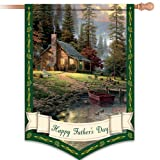 Thomas Kinkade Happy Father's Day Decorative Flag by The Hamilton Collection