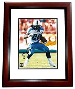 Chris Johnson Autographed Hand Signed Tennessee Titans 8x10 Photo - MAHOGANY CUSTOM... by Real Deal Memorabilia