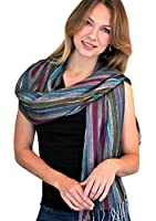 Women's Jewel Dazzle Multicolor Stripe Glamour Fashion Scarf / Shawl / Wrap (5 Colors)