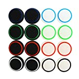 XFUNY(TM) Pack of 16 PCS Replacement Silicon Thumb Grip Caps Thumbstick Noctilucent Sets for PS2, PS3, PS4, Xbox 360, Xbox One Controller