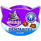 Whiskas Dentabites Katzensnack Lachs, 8 Packungen (8 x 40 g)